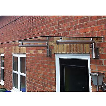 Glass Canopy Stainless Steel Over Door Porch Balcony Shelter Awning 1440mm Wide