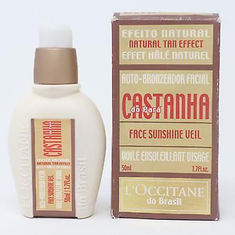 Loccitane Castarha Do Para Face Sunshine Veil  1.7oz/50ml New With Box