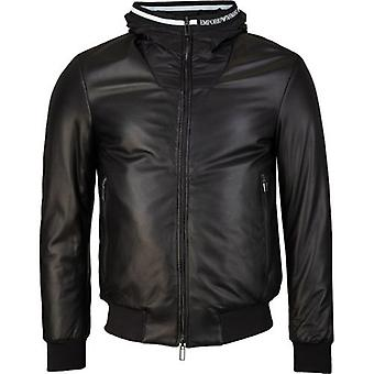 Armani Hooded Leather Jacket