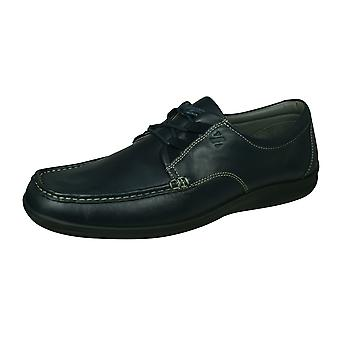 Sledgers Gus Mens Lace-up Leather Shoes - Navy