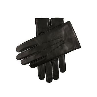 Black Plain Leather Gloves