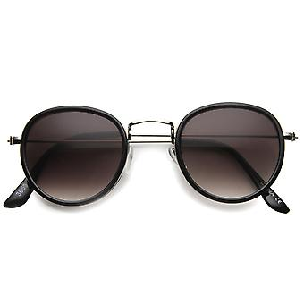 Mens Round Sunglasses With UV400 Protected Composite Lens