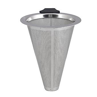 3.5inch Stainless Steel Pour Over Coffee Filter Silver