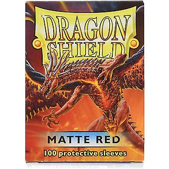 Dragon Shield Classic Standard Größe Hüllen 100pk - rot (Packung mit 10)