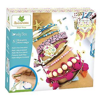Sycomore Children's Craft Kid 5 Multi-row Bracelets Unisex Multi-colour CRE2070