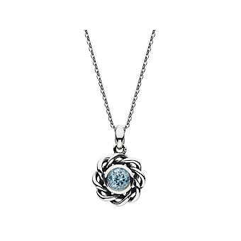 Heritage Mystic Birthstone March Blue Topaz Twist Necklace 9234MAR024