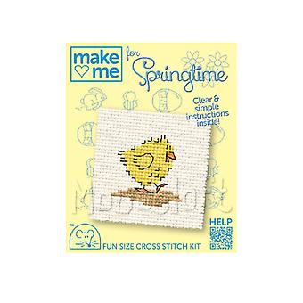 Easter Chick - Make Me for Easter Small Counted Cross Stitch Kit
