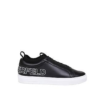 Karl Lagerfeld Kl51026000 Men's Black Leather Sneakers