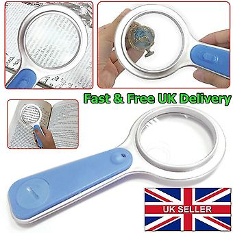 Handheld Magnifier Glass With Led Light 5X Magnification