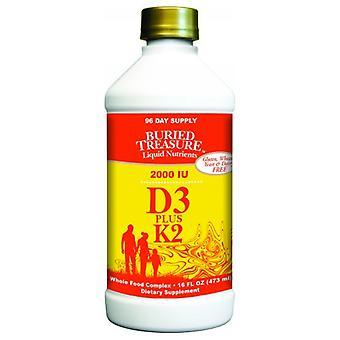 Buried Treasure Liquid Vitamin D3 with K2, 16 oz