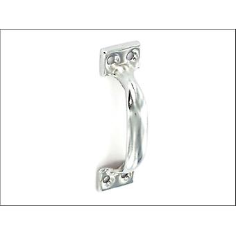 Securit Face Fix Pull Handle Brushed Zinc Plated 100mm x 2 S3691