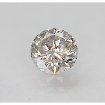 Cert 0.46 Carat Light Silver SI1 Round Brilliant Enhanced Natural Diamond 4.85mm