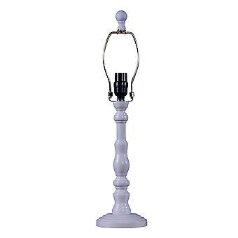 Hvid klassisk urn form bordlampe base