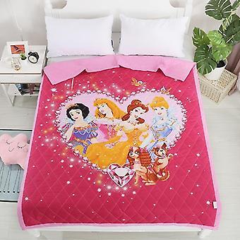 Disney Cartoon Elsa Anna Frozen Sofia Blanket For Air Conditioner Quilt Bedding