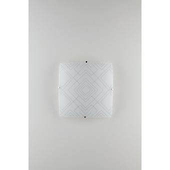 Dekorativt Flush tak ljus, glansigt vitt glas, E27
