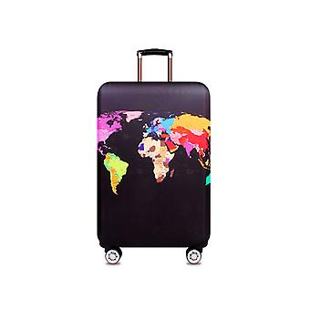 World Map Spandex Travel Luggage Cover