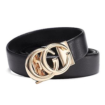 Famous Designer Men Belts, All-match Male Genuine Leather Strap, Automatic