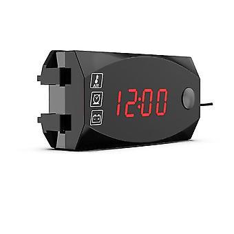 12v, 3 In 1 Digital Led Display Meters/voltmeter Clock, Thermometer Indicator