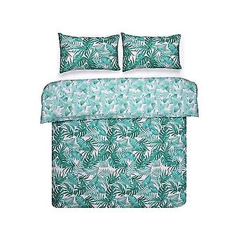 Bambury Printed Quilt Cover Set Tropic Stripe Queen