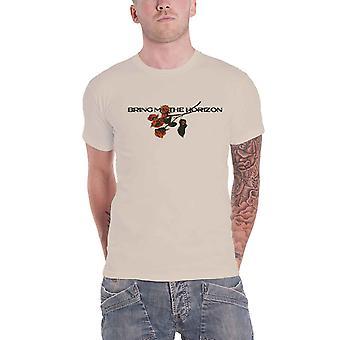 أحضر لي الأفق تي شيرت الزهور باند شعار جديد الرجال الرسمية الرمال