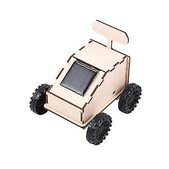 DIY Wooden Rover Manual Assembly Rover Decor Figurine DIY Wooden Miniature Curiosity Rover Solar Energy Decoration Accessories Gifts For Children