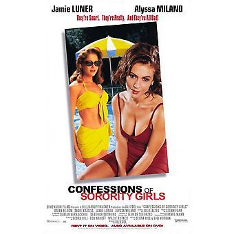Confessions av Sorority Girls film plakat (11 x 17)