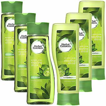 Pack Of 3 Herbal Essences Duo's Shampoo & Conditioner- 400ml, Dazzling Shine
