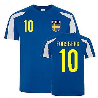 Emil Forsberg Ruotsi Urheiluvalennan pelipaita (sinivalkoinen)