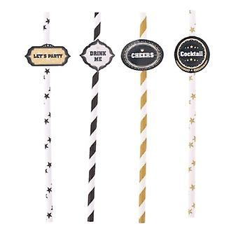 Drinking Straws Quotes 19.5 Cm Paper 20 Pieces