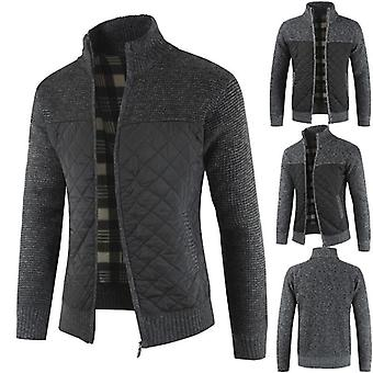 Men's Autumn, Winter, Warm Knitted Sweater, Jackets, Cardigan Coats, Clothing
