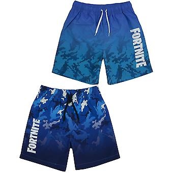 Shorts de bain Fortnite pour garçons | Maillots de bain light or dark blue gamer