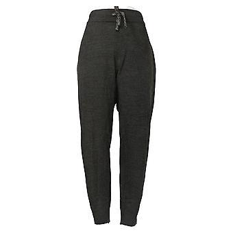 Zuda Women's Pants Soft Sweater Knit Jogger Pull On Waistband Gray A39024