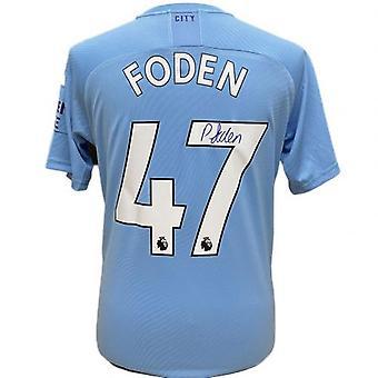 Manchester City Foden signerad tröja