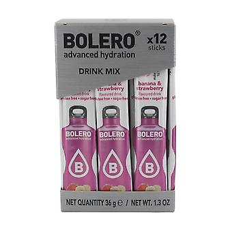 Bolero Sticks Banana & Strawberry 12 units