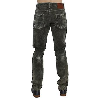 Acht Green Wash Cotton Stretch Slim Fit Jeans
