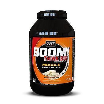 QNT BOOM! Erőteljes izomtömeg Advanced Gainer fehérje-3kg fehér csokoládé