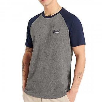 Superdry OL Baseball SS T-Shirt Noir Grit NKM
