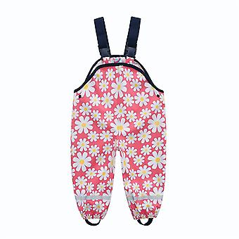 Children's Pu Waterproof Rain Pants Baby Jumpsuit Rompers