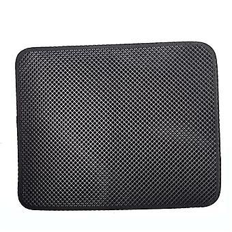 Black reusable double layer cat litter mat