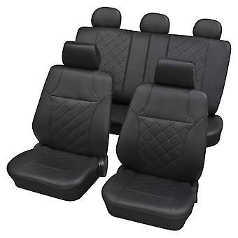 Autositz abdeckungen Leatherette Eco-Leather, Airbag Kompatibel, (17 Stück) Ermöglicht es, den Rückensitz separat zu falten