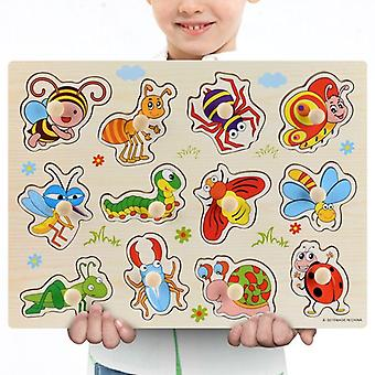 3d palapelit puinen oppiminen lasten aakkoset
