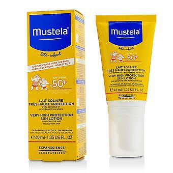 Mycket hög skydd solkräm spf50 + solkänslig och intolerant hud 217515 40ml / 1.35oz