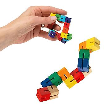 Cube Wooden Puzzle (as Show)