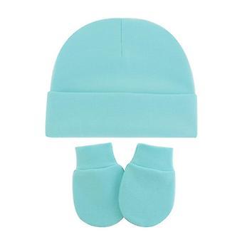 Caps Mittens For Baby Set, Nursing Hat Beanie Baby Scratch Mitten Gloves