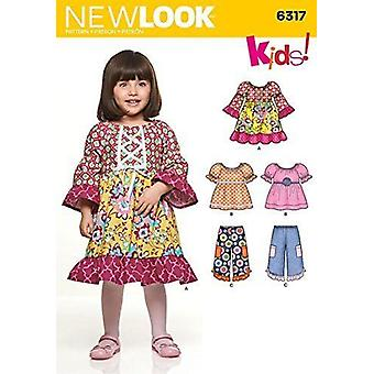 New Look Sewing Pattern Toddlers Girls Dress Pants Tops Size A 1/2 -  4 Sewing Pattern 6317 Toddlers' Dress/ Top and Pants, Multi-Colour