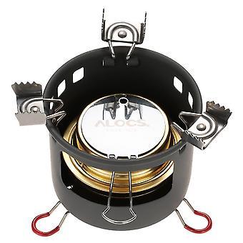 Camping outdoor spirit alcohol burner stove bracket support set