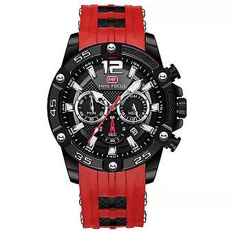 Mens klockor Sport Vattentät multifunktionell kvarts klocka silikonrem armband klocka