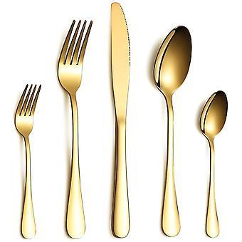 Wokex Besteck Set, Gold Besteck Set, Edelstahl Set Service fr 6 Personen, 30 stecken Esszimmer Besteck