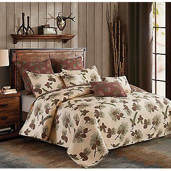 Spura Home Tropical Forest Pines Transitional Quilt Set