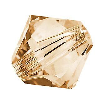 سواروفسكي كريستال، #5328 بيكون الخرز 4mm، 24 قطعة، كريستال الظل الذهبي